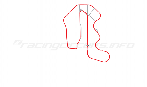 Map of Thunderhill Raceway Park, Three Mile Course with bypass 2006-2014