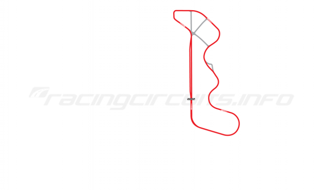 Map of Thunderhill Raceway Park, Full Course with bypass 1993-94
