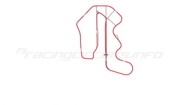 Map of Thunderhill Raceway Park, Three Mile Course with bypass 1995-2005