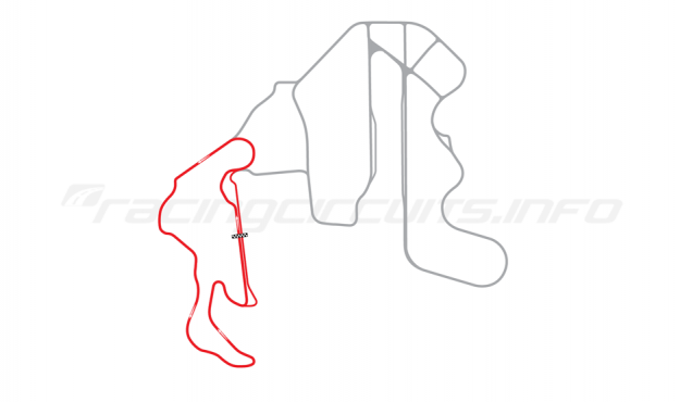 Map of Thunderhill Raceway Park, West Course 2014 to date