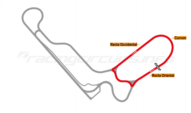 Map of Autodromo de Tocancipá, Circuito 5 Clockwise 1990 to date