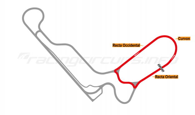 Map of Autodromo de Tocancipá, Circuito 5 Anti-Clockwise 1990 to date