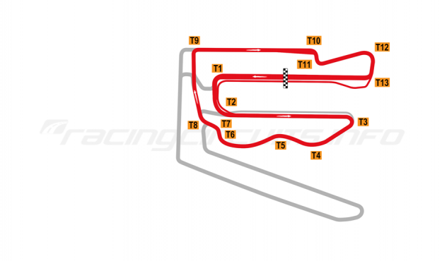 Map of V1 Auto World Tianjin, Professional Driver Experience Circuit 2018 to date