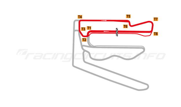 Map of V1 Auto World Tianjin, North Circuit 2018 to date