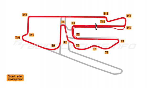 Map of V1 Auto World Tianjin, International 'A' Circuit 2018 to date