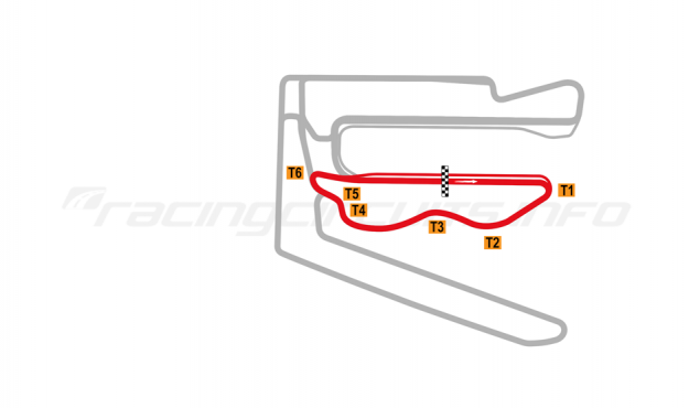 Map of V1 Auto World Tianjin, South Circuit 2018 to date