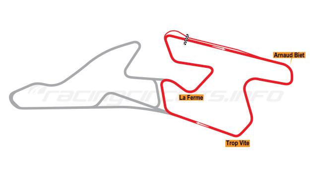 Map of Val de Vienne, Circuit A 2008 to date