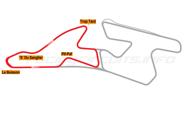 Map of Val de Vienne, Circuit B 2008 to date