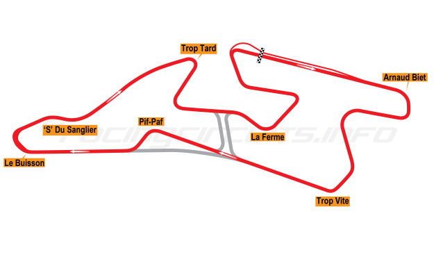 Map of Val de Vienne, Motorcycle Circuit 2008 to date