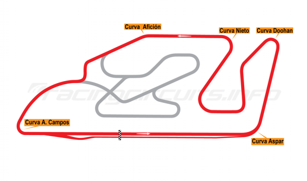 Map of Valencia (Cheste/Ricardo Tormo), National Circuit 1999 to date