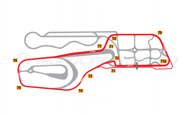 Map of Vålerbanen, Full circuit (alternative chicane) 2008 to date