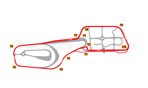 Map of Vålerbanen, Full circuit (alternative chicane) 1997-2007