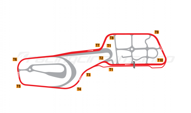 Map of Vålerbanen, Full circuit 1997-2007