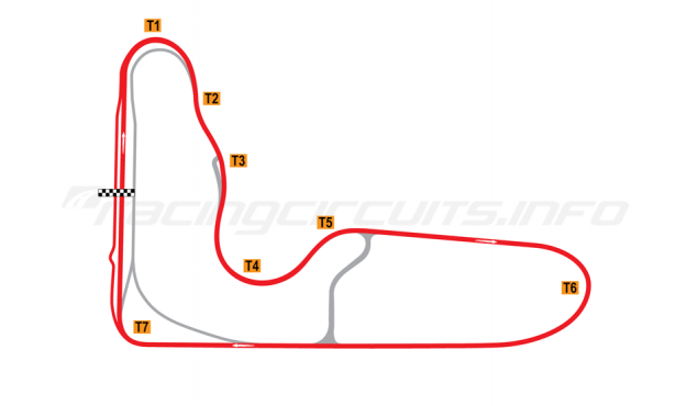 Map of Barbagallo Raceway Wanneroo, Long circuit 2019 to date
