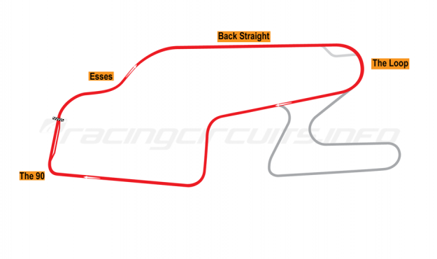 Map of Watkins Glen, Six Hours Sports Car Circuit 1971-74