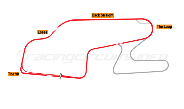 Map of Watkins Glen, Short Circuit 1984-91