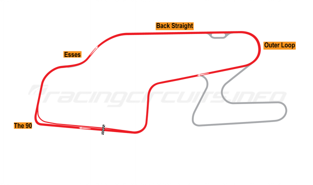 Map of Watkins Glen, Short Circuit 1992 to date