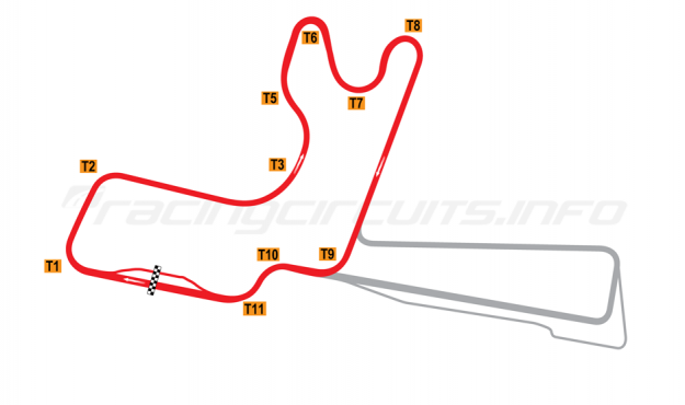 Map of Winton, Club Circuit 1997 to date
