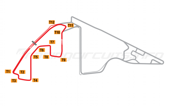 Map of Yas Marina, South Circuit 2009 to date