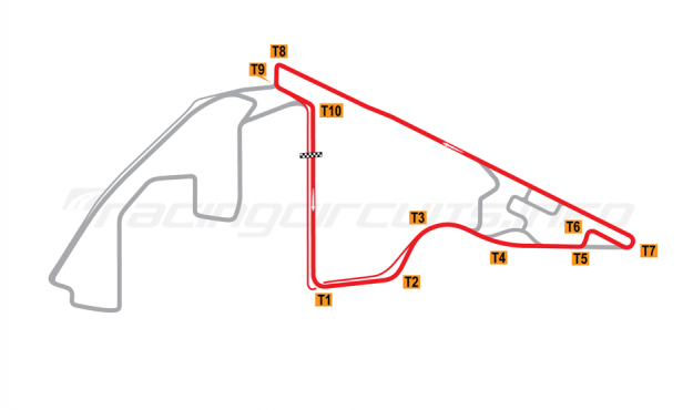 Map of Yas Marina, North Circuit 2009 to date