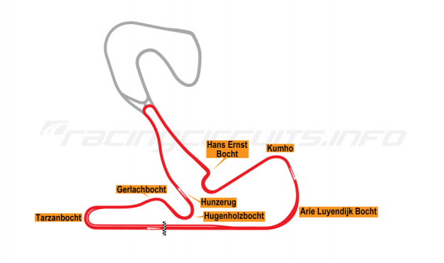 Map of Zandvoort, Nationaal Circuit 2020 onwards