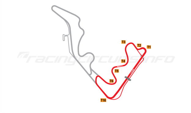 Map of Zhejiang Circuit, East course 2016 to date