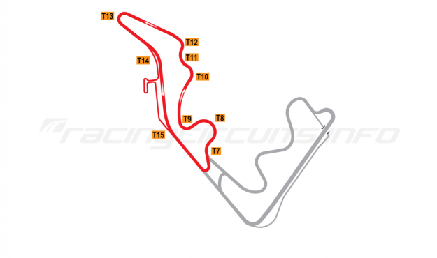 Map of Zhejiang Circuit, West course 2016 to date