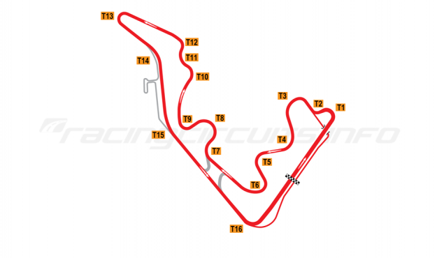 Map of Zhejiang Circuit, 2016 to date